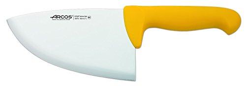 Arcos Serie 2900, Chuletera, Acero Inoxidable Nitrum de 180 mm, Mango inyectado en Polipropileno Color Amarillo