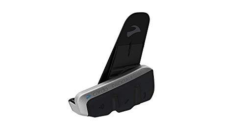 Cardo BTSRPTS Scala PACKTALK Slim mit natürlichem Sprachmotorradkommunikations- und Unterhaltungssystem, Connect 2 to 15 Riders (Einzelpackung), Schwarz