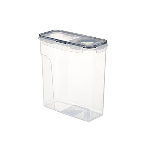 ZQJD Latas selladas para alimentos de cocina, latas transparentes de almacenamiento de granos de alimentos, doble sellado de leche en polvo, caja de almacenamiento de 2,5 l, negro, 2,5 l