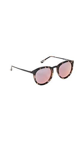 Le Specs Women's No Smirking Sunglasses, Volcanic Tort/Coral Revo, Brown, Pink, Print, One Size Iowa