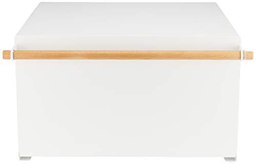 山崎実業(Yamazaki)ブレットケースホワイト約43X36.5X24cmトスカパンケース27L大容量4376