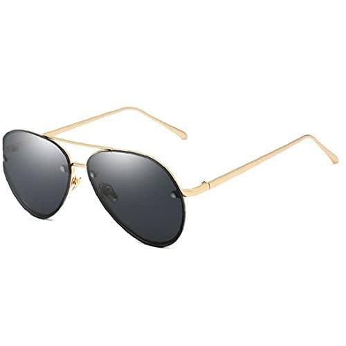 TOSSPER Moda Vintage Sin Montura Piloto Gafas De Mujeres Hombres Retro Revestimiento Espejo Gafas De