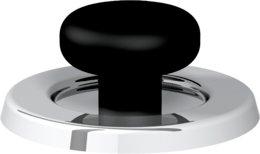 Articolo fumisteria Linea 'Legna' e 'pellet':tappo per ispezione, spessore 0,5 mm, acciaio inox, diametro 80 mm