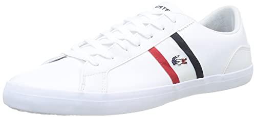 Lacoste Lerond TRI1 CMA, Zapatillas Hombre, Blanc (Wht/Nvy/Red), 42 EU