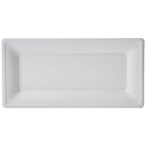 AmazonBasics Compostable Plates, 10' x 5', Pack of 500