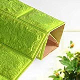 Happytoys 70x77cm PE Foam 3D Wall Stickers Safty Home Decor Wallpaper Sticker,green