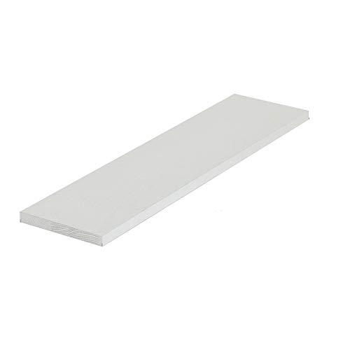 Goodhelper - Estantes flotantes blancos, para colgar en la pared, estante de almacenamiento para dormitorio, baño, sala de estar, cocina (tamaño: 90 x 15 cm)
