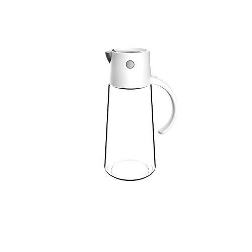 Hanpiyigyh Aceitera, Botella de aceite de vidrio y cierre automático, cocina doméstica, control de aceite y prevención de fugas, vinagre de salsa de soja pequeña botella (altura 210mm * Diámetro 90mm)