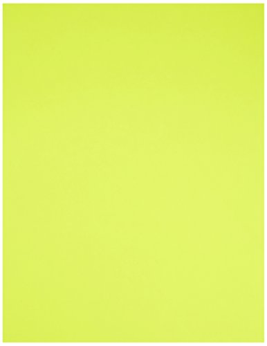 Compulabel 313255 Fluorescent Yellow Full Sheet Labels for Laser Printers, 8 1/2 inch x 11 inch, Permanent Adhesive, 1 Per Sheet, 100 Sheets per Carton