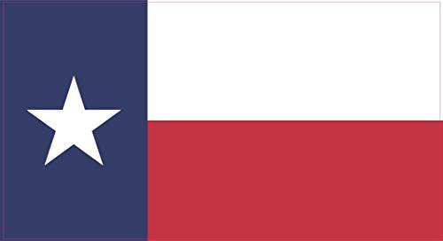 StickerTalk Texas Flag Vinyl Sticker, 7 inches by 3.8 inches