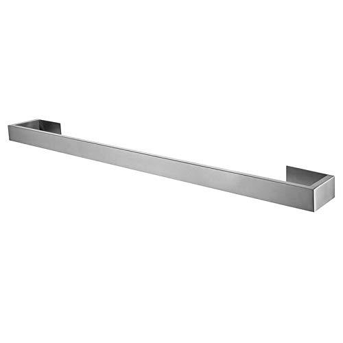 litulituhallo Toallero barra de barra de una sola capa Sus 304 acero inoxidable montado en la pared, plata cepillada