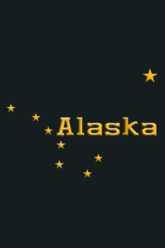 Alaska State Flag Astrology Big Dipper Polaris: notebook, notebook journal beautiful , simple, impressive,size 6x9 inches, 114 paperback pages