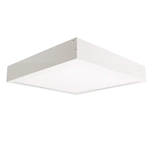 Panel LED Slim 60x60cm 40W 3200lm + Kit de Superficie Blanco Frío 6000K-6500K efectoLED