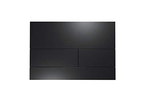 TECE Square II Betätigungsplatte für WC (Farbe schwarz matt, Zweimengentechnik, bedienbar von Oben und vorne) 9240833