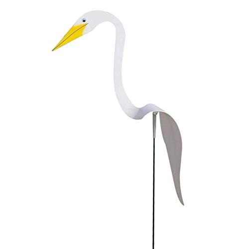 TOYHEART Wirbelvogel, Flamingo-Windspinner, Wirbelvogel-Flamingo-Schwan Skurriler Dynamischer Vogel Leichte Schaukel-Brise Gartendekor Für Garten Weiß
