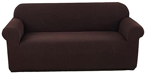 HXTSWGS Fundas de sofá,Asiento de Amor,Funda de sofá Impermeable, Funda de sofá Moderna para Perros y Mascotas, con Fondo elástico Protección Antideslizante para Muebles Cover-Brown_145-180cm