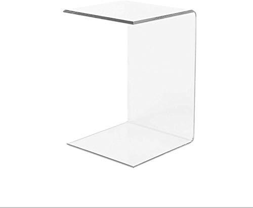 LAC Tavolino Comodino Consolle Soggiorno per il divano in plexiglass acrilico Trasparente accessorio Design poggiapiedi - Spessore 10mm - 60x30x30