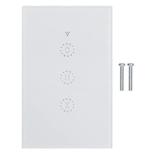 PBOHUZ Interruptor de atenuación Inteligente -WiFi Interruptor Inteligente Cortina Atenuador Inteligente para Control Remoto Temporizador Estándar 95‑250V