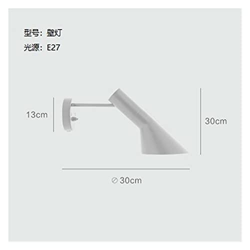 Lámpara de piso nórdica, arne jacobsen. DIRIGIÓ Lámpara de mesa moderna sala de estar dormitorio estudio soporte lámpara lámpara decoración de la casa luminaria ( Lampshade Color : White wall lamp )