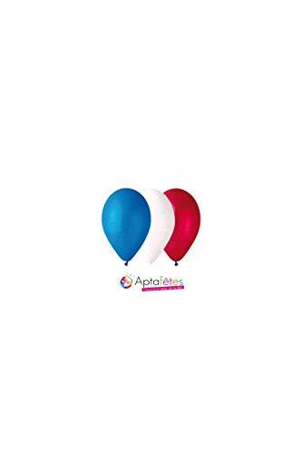 Ballons Standard Tricolores Diam 30Cm-Circonf 105Cm - Paquet De 100