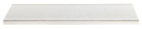 CASA BRUNO Gartenbank ohne Lehne, 122 cm breit, aus recyceltem Polywood® HDPE Kunststoff, weiss – kompromisslos wetterfest - 3
