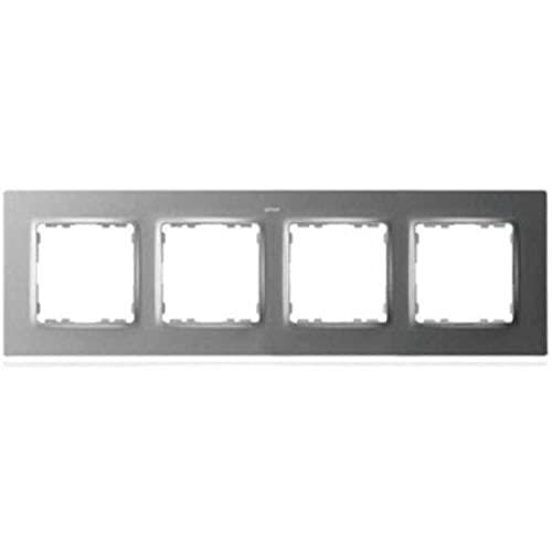 Marco para 4 elementos, serie 82 Concept, 1 x 25 x 8 centímetros, color aluminio (referencia: 8200647-093)