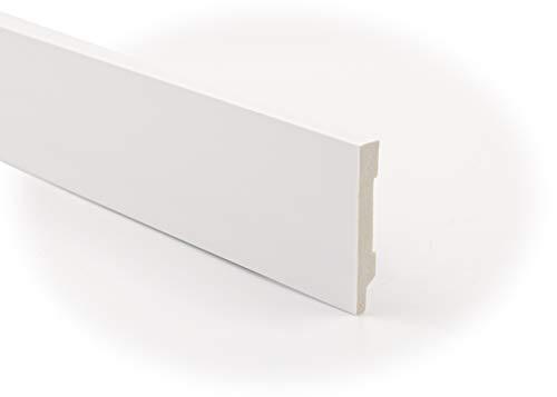 Zócalo - Rodapié Blanco de PVC hidrófugo, 10cm de alto y 220cm de largo