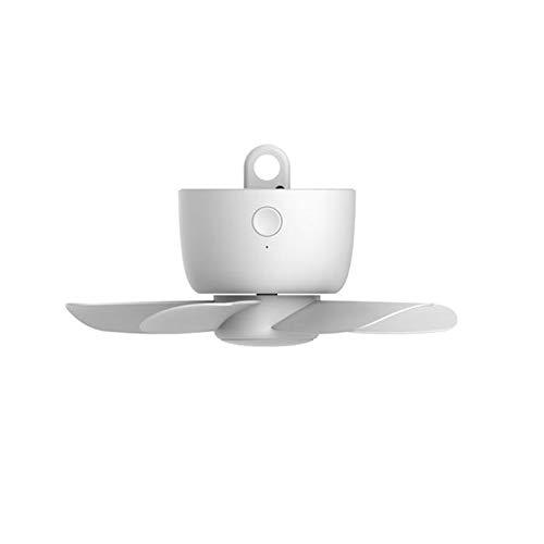 LINMAN 8000mAh USB Recargable Control Remoto Tiempo 4 Engranajes Ventilador de Techo para Cama de Tiendas de campaña