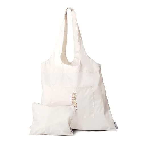 Kinderwagen Organizer mit Hasenmotiv   2er Set - Tasche + Kosmetiktasche   Perfekt auch als Schwimmbadtasche oder Einkaufstasche   Tasche wasserdicht   Shopper aus Nylon