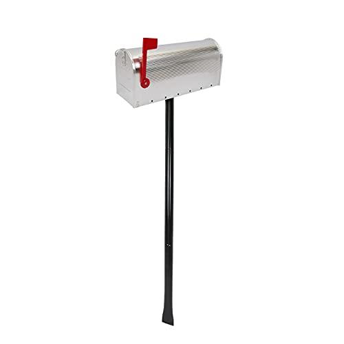 PrimeMatik - Buzón US Mail de Aluminio para Correo Postal Americano Plateado con Soporte
