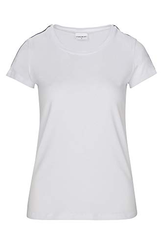 Pure White Linnen Ballin Tape Tee