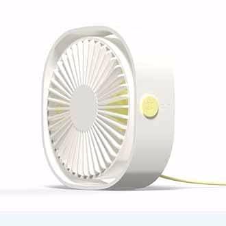 HYWY Ventilatore da Scrivania USB, Ventilatore Portatile con Cavo, Rotazione a 360 ° Disagable Moration Muto per Home Office Viaggio USB Alimentato White