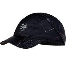 Buff Pro Run Cap + UP Bonnet de course léger avec protection UV pour homme et femme, Adulte (unisexe), R-Lithe Black - 119495.999.10.00.