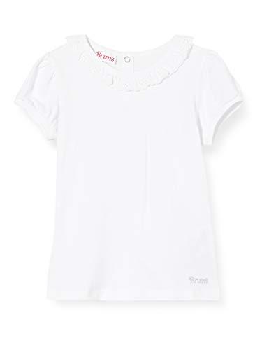 Brums Baby-Mädchen T-Shirt Jersey Con Collo Sangallo Pullunder, Weiß (Optical White 01 001), 68 (Herstellergröße: 6M)