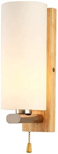 WASHULI Lámpara de Pared 220V Dormitorio Cubierta Estilo Simple Apliques de la Pared de Pared de luz de la lámpara de Cama Creativa Escalera Sala de la lámpara E27 Luz de Pared