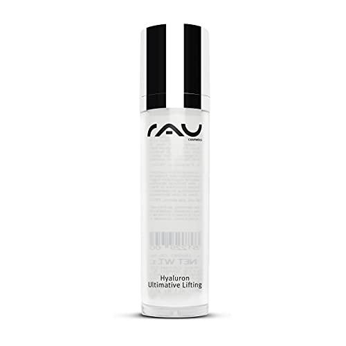 RAU Cosmetics Hyaluron Serum Ultimative Lifting mit Hyaluronsäure 50 ml - Anti Aging Creme für Frauen und Männer bei Falten im Gesicht für trockene Haut - Natürliche Gesichtspflege mit Hyaluronic Acid