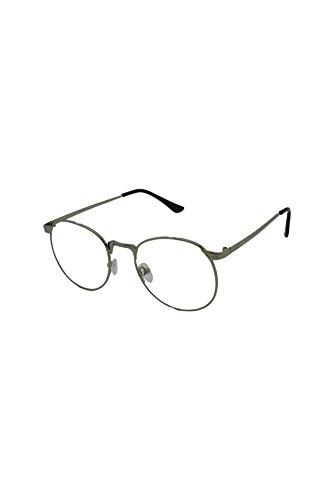 Finecy In - Mannen Vrouwen Ronde Heldere lens Retro Vintage Nerd Geek Mode Specs Metalen Zonnebril voor Mannen