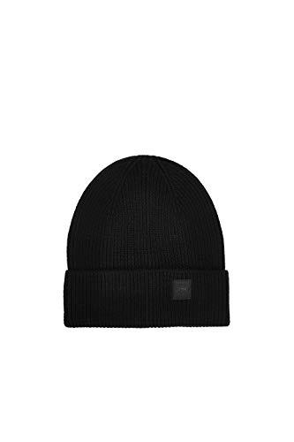 ESPRIT Accessoires Herren 110EA2P302 Beanie-Mütze, 001/BLACK, 1SIZE