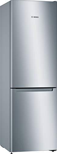 Bosch KGN36NLEB Serie 2 Freistehende Kühl-Gefrier-Kombination / E / 186 cm / 239 kWh/Jahr / Inox-look / 216 L Kühlteil / 89 L Gefrierteil / NoFrost / FreshSense