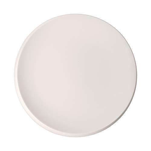 Villeroy & Boch - NewMoon Gourmetteller, moderner Essteller für den festlichen Anlass, Premium Porzellan, spülmaschinengeeignet, 32 cm, weiß