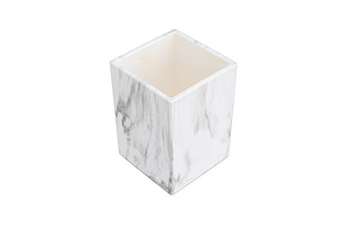 Pen Holder, LUYING Marble Print Pencil Cup Desk Pencil Stand Holder Organizer Makeup Brush Holder Beautiful Stationery for Home School Office Accessory