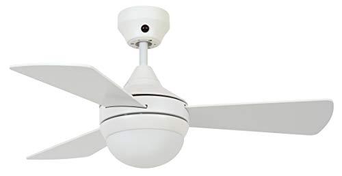 Lucci air - Ventilador de techo Airlie Hugger con mando a distancia, alas reversibles y 2 opciones de instalación (blanco).