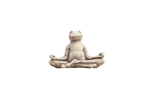Yoga Frosch, Tierfigur aus Steinguss
