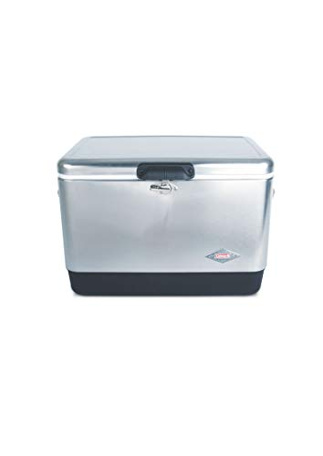 Coleman Steel-Belted Portable Cooler, 54 Quart, Stainless Steel (Pack of 1)