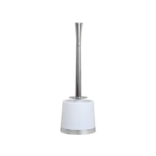 BGROESTWB Tazón Cepillo Escobilla de baño WC Este Cepillo y el Soporte for Todos los inodoros y baños Baño de Limpieza (Color : White)