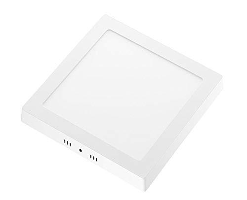 Aufbauspot LED Panel, LED Deckenleuchte 18W Quadratisch LED PANEL 1200LM + Transformator 12V, warmweiss 3000K 230V (Warmweiss)