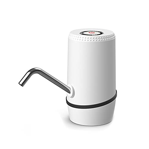 GDYJP Best Bottled Water Pump, Rechargeable Water Dispenser, Household Electric Pure Water Pressure Water Automatic, Indoor Outdoor Home Office (Color : White)