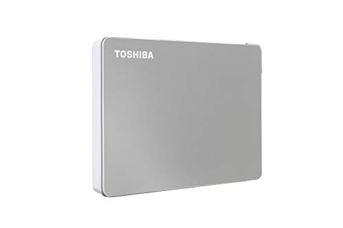 Toshiba Canvio Flex 2TB Portable External Hard Drive USB-C USB 3.0, Silver for PC, Mac, & Tablet - HDTX120XSCAA