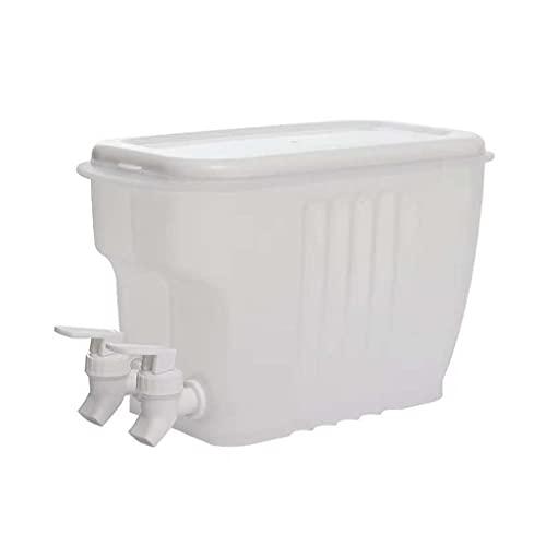 MEIBAOGE Hervidores fríos para Frutas de Material plástico a Prueba de Fugas con grifos en frigoríficos con 2 grifos para Uso en frigoríficos de Cocina, hervidores fríos