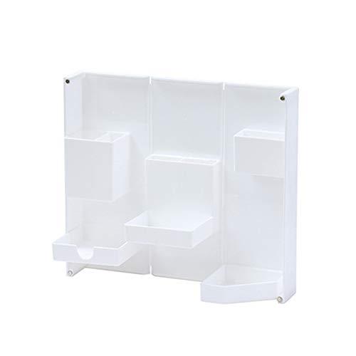 Delisouls Organizador de escritorio estacionario, estuche plegable y de pie, caja de lápices de plástico multifuncional de apertura magnética y cierre, estuche de lápiz de oficina, estuche cosmético